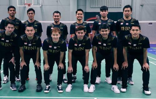 Tim Indonesia di Piala Thomas 2020. (Foto: Instagram/@badminton.ina)