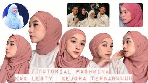 Tutorial gaya hijab pashmina ala Lesti Kejora. (Foto: YouTube Yay! Mutiara)