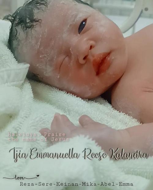 Istri Reza Bukan melahirkan bayi perempuan. (Foto: Instagram/@rezabukan)