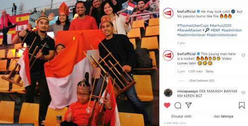 Dua anak kecil heboh dukung Indonesia di Piala Thomas 2020