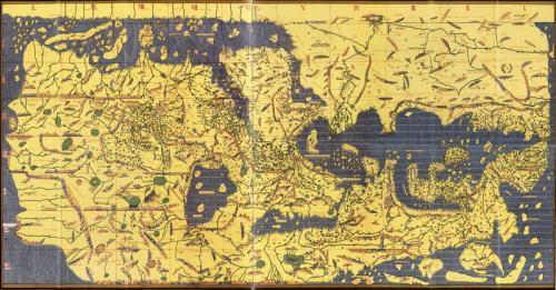 Peta dunia Tabula Rogeriana yang dibuat Muhammad Al Idrisi pada tahun 1154M. (Foto: Wikimedia)