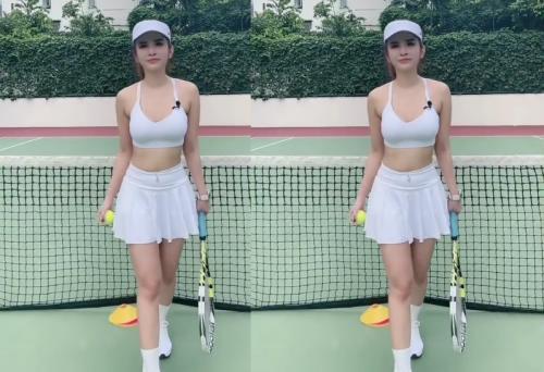 Outfit Olahraga ala Maria Vania